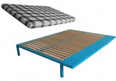 blue bed frame
